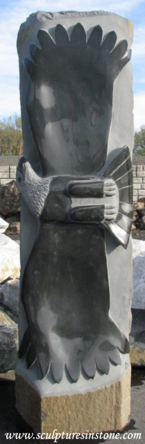 Basalt Stone Sculpture : Birds