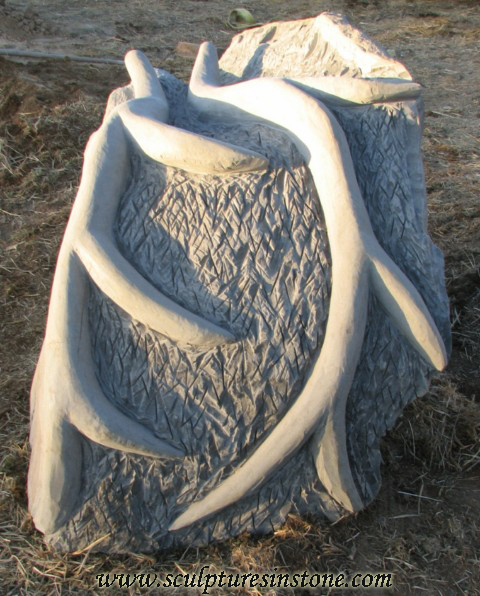 Stone Elk Sculpture